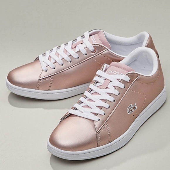 quality design 68a4e 00beb Lacoste Carnaby evo rose gold sneakers 5.5
